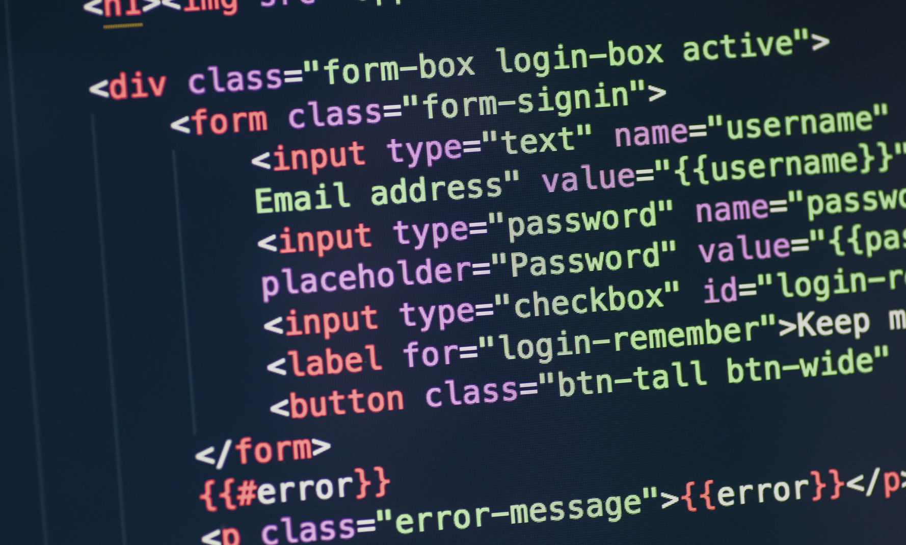 HTML Form Code.